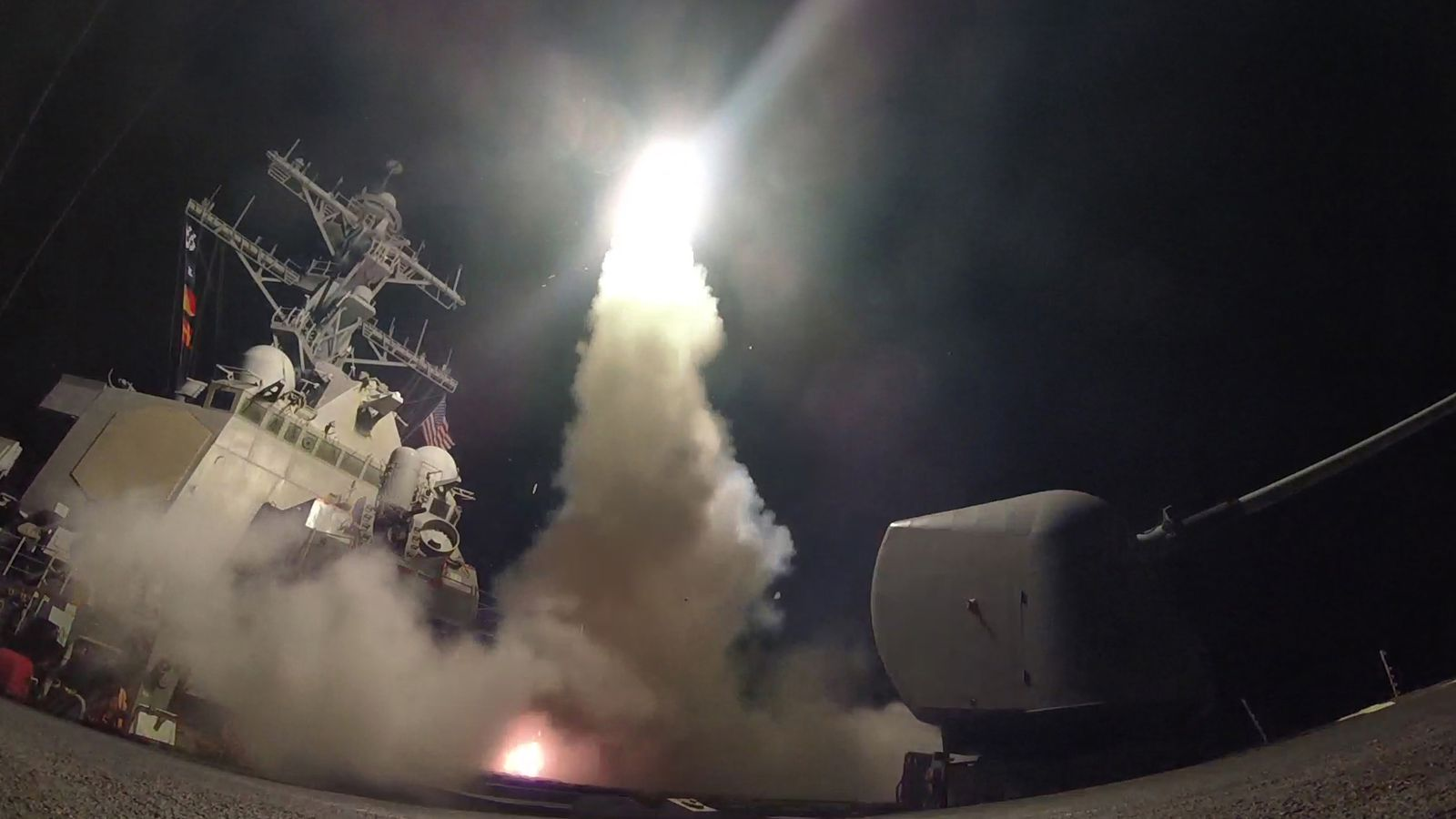 US threatens new Syria strikes 'if you gas a baby'