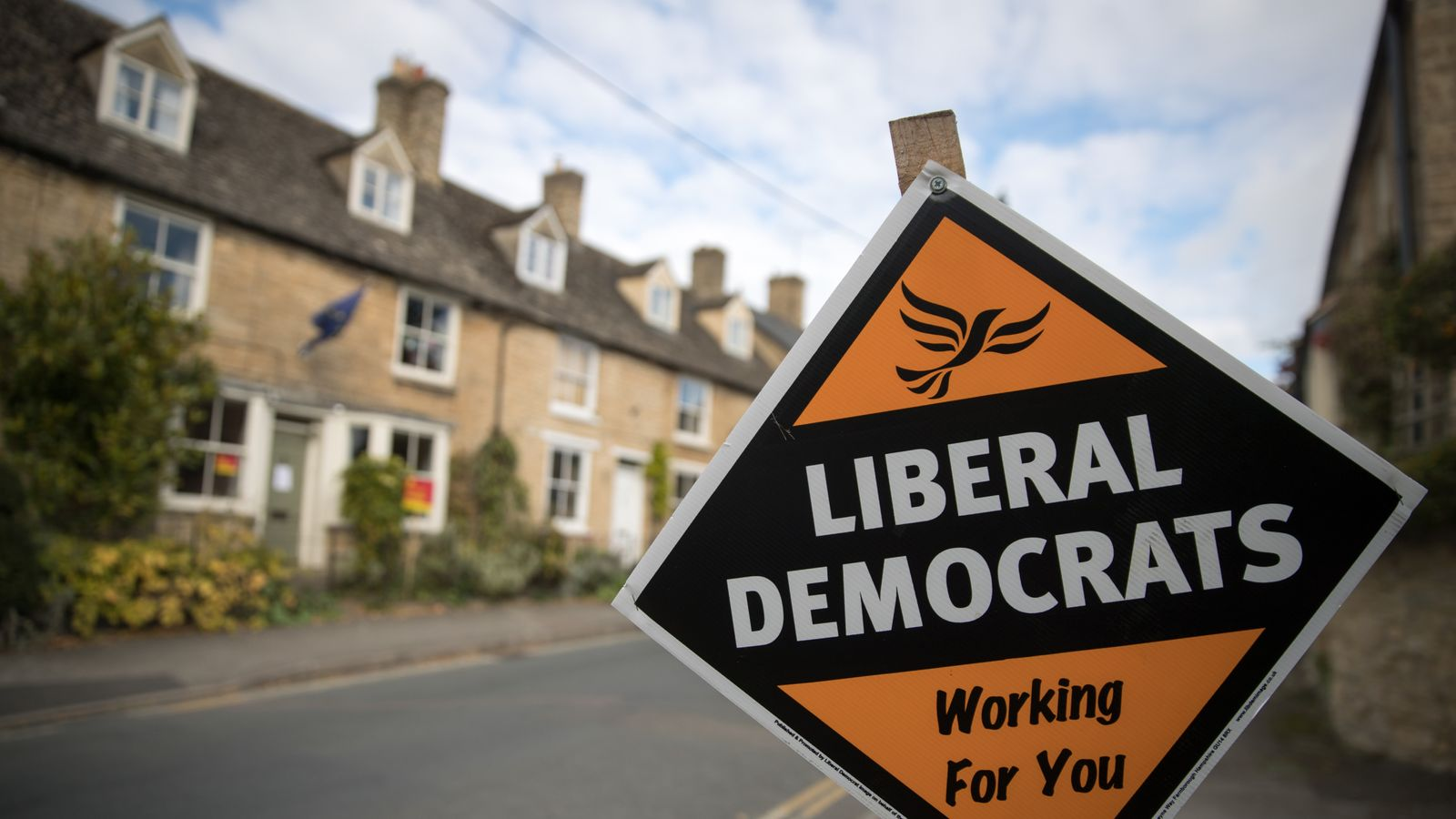 A Lib Dem sign in Witney