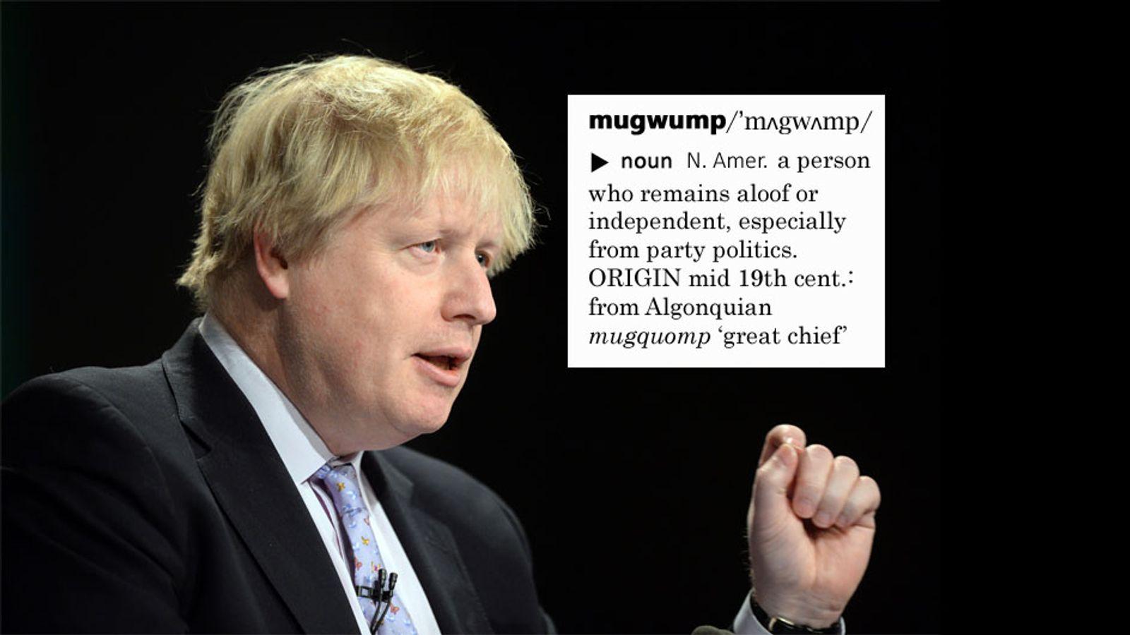 Boris Johnson described Jeremy Corbyn as a mugwump