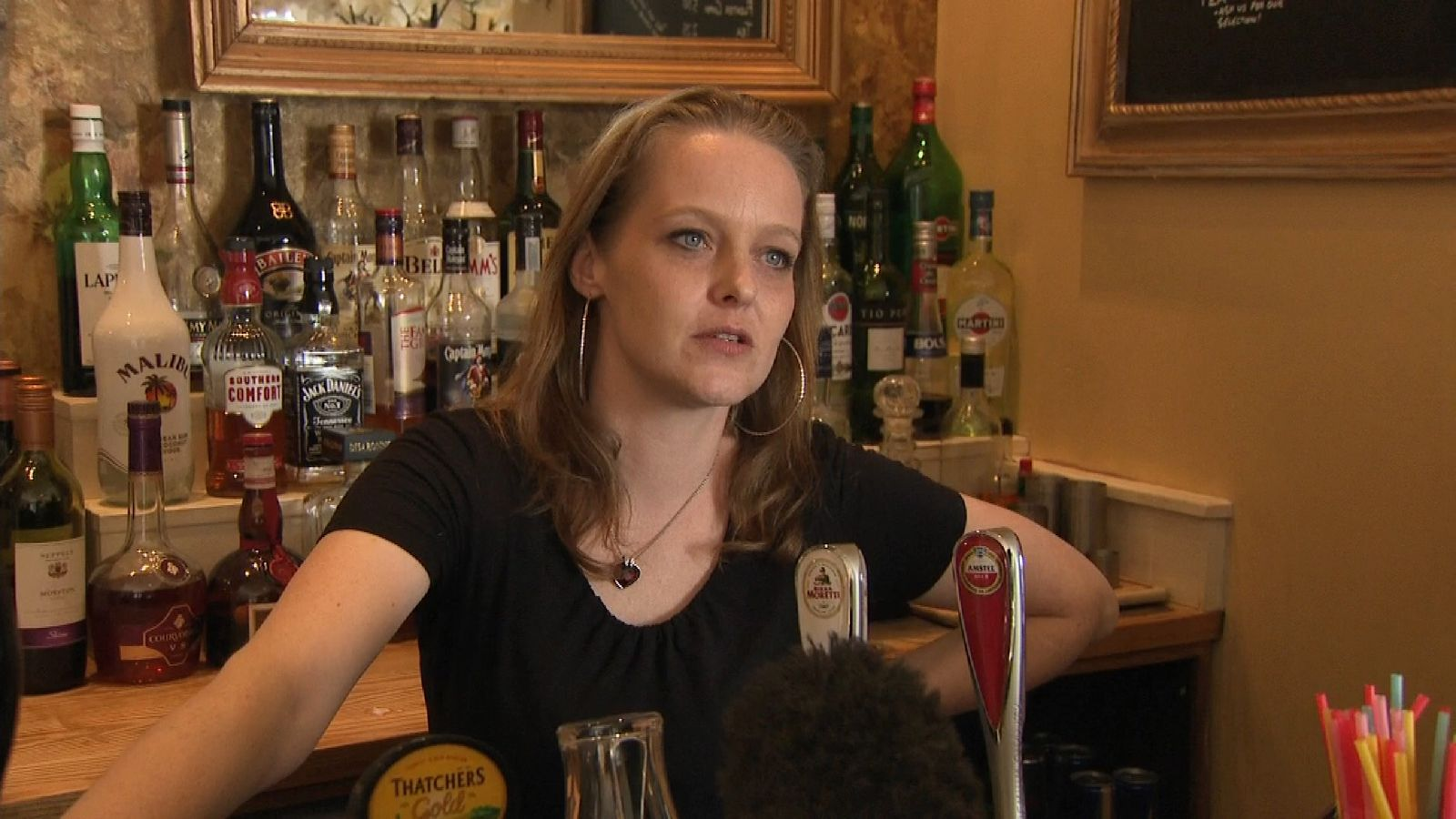 Bristol barmaid Della Ring is bored by yet another election