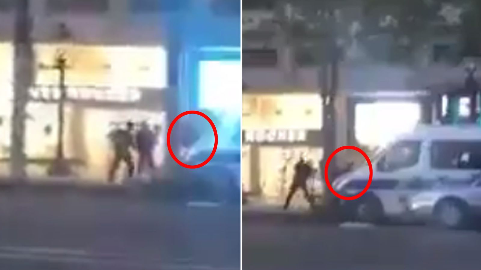 Police apprehend the gunman
