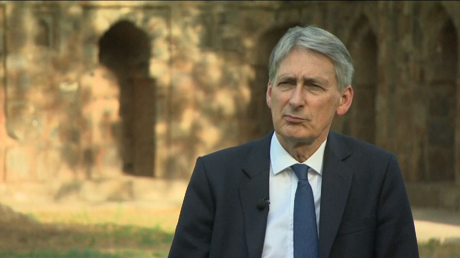 Philip Hammond is in India for trade talks