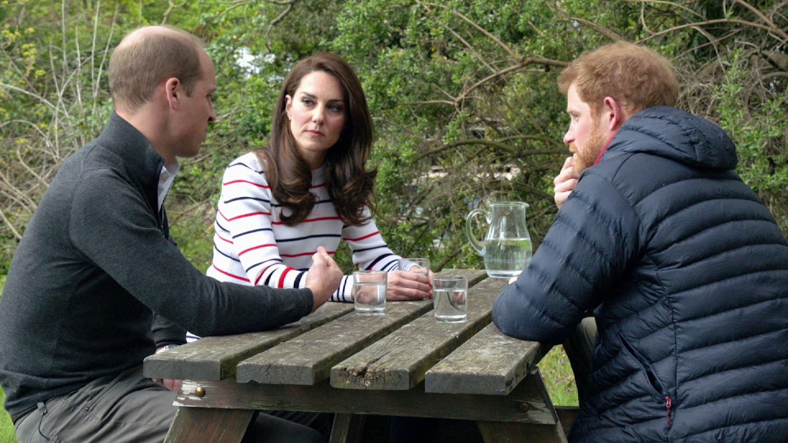 Prince William, Prince Harry and Kate