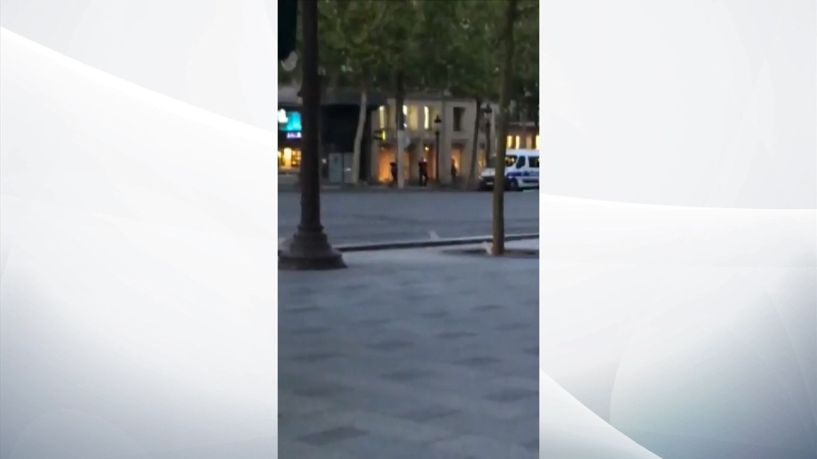 The moment the Paris shooting happened, as heard from across the street