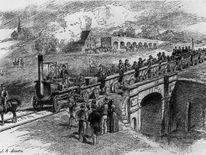 The opening of the Stockton and Darlington Railway, the world's first public railway