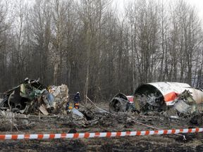 The wreckage of the plane that crashed in 2010 killing the Polish president