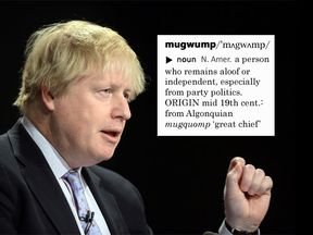 Boris Johnson described Jeremy Corbyn as a mugwump