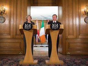 Theresa May and Enda Kenny hold a joint news conference at 10 Downing Street