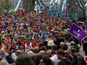 A record number of runners took part in this year's marathon