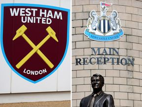 West Ham United and Newcastle United