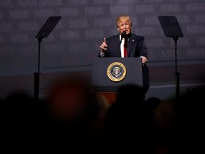 President Trump addressed the NRA's annual meeting in Atlanta