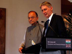 Philip Hammond and India's Finance Minister, Arun Jaitley