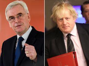 John McDonnell and Boris Johnson