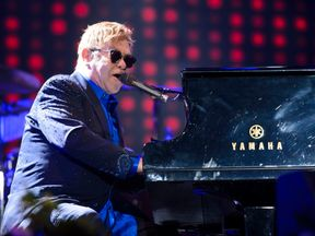 Elton John performs at the Hyde Park concert on 11 September last year
