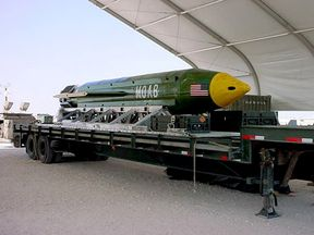 The GBU-43/B Massive Ordnance Air Blast (MOAB) bomb