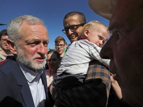 Jeremy Corbyn out on the campaign trail on Saturday