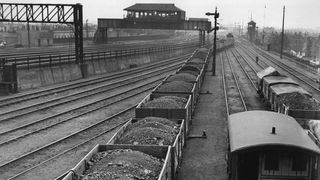 Coal wagons at Nine Elms Station