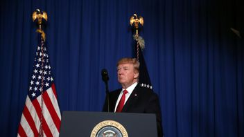 President Trump makes a statement following America's missile strike on a Syrian air base