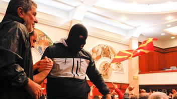Protesters entered Macedonia's parliament