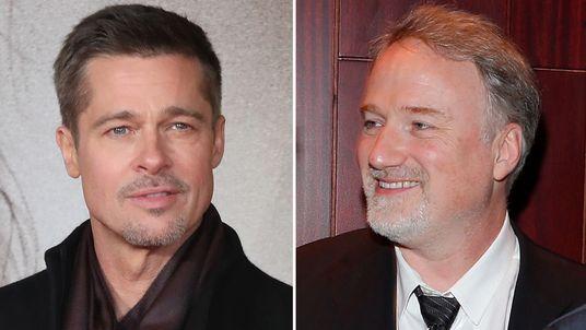 Brad Pitt and David Fincher
