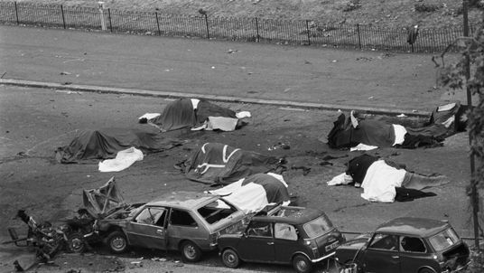 Four servicemen and seven horses were killed in the IRA blast