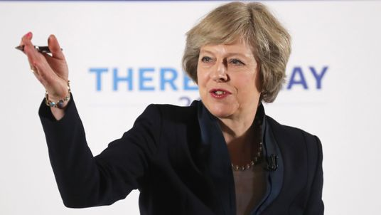 Theresa May launches her Conservative party leadership campaign in Birmingham