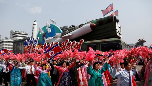 North Korea's military might celebrated on the 105th birth anniversary of the country's founding father