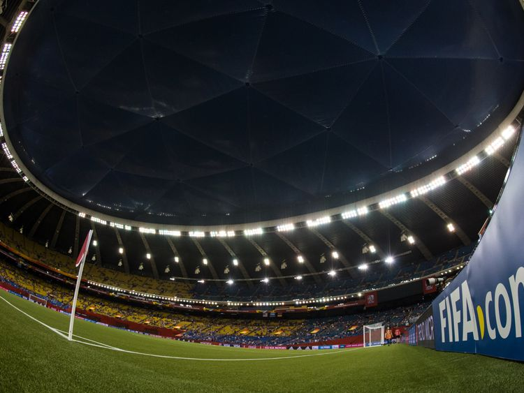 Montreal's Olympic Stadium holds 56,000