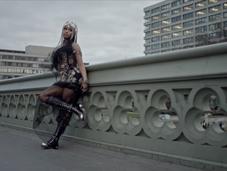 Nicki Minaj criticised over Westminster Bridge scenes in No Frauds video
