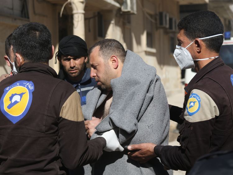 Syrian field hospital hit after chemical attack
