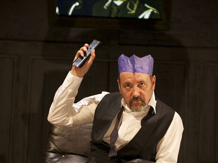 Spacey as Richard II in the Sam Mendes play at the Old Vic