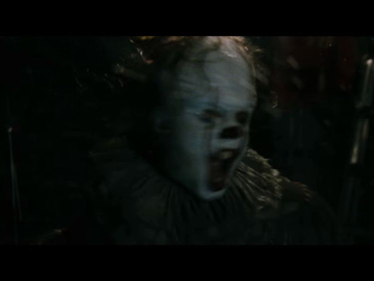 In the movie, Pennywise terrorises a group of children. Pic: Warner Bros.