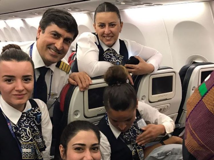 Turkish Airlines cabin crew help deliver baby girl at 42000 feet