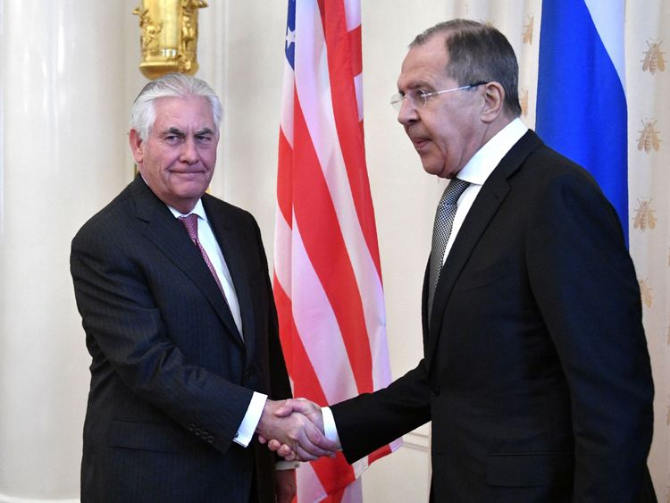 The pair shook hands but the talks are likely to be tense