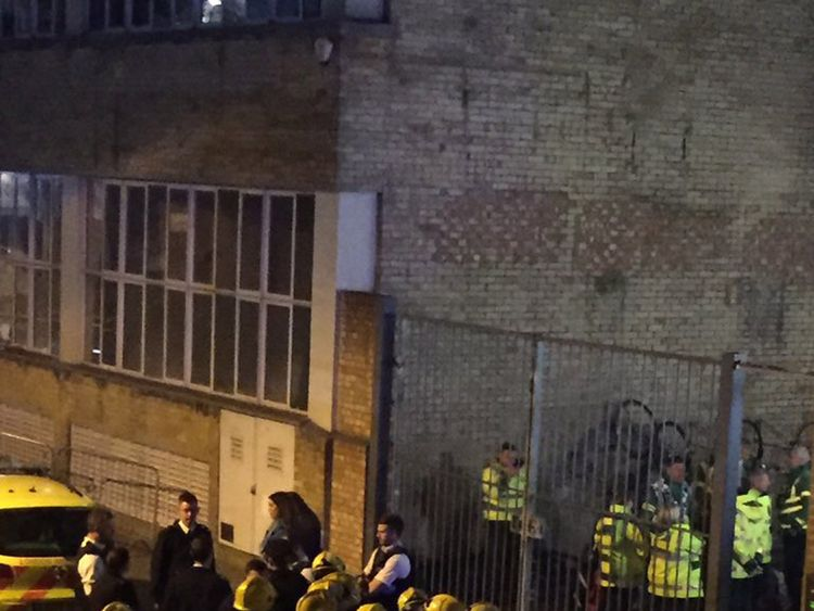 Police were called to the bar after reports of a 'noxious substance'