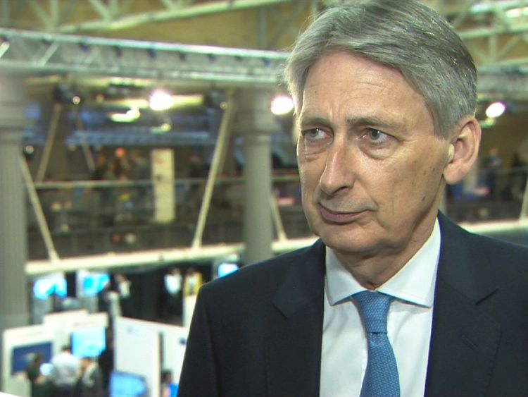 Philip Hammond in interview setup.