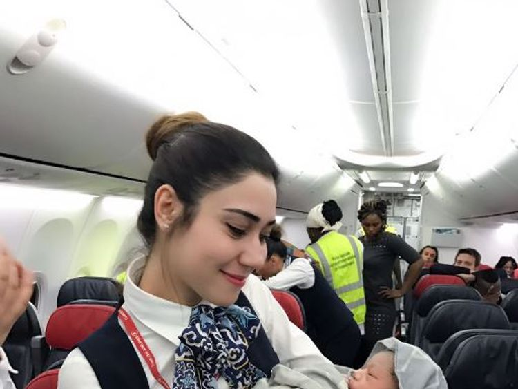 Cabin crew on Turkish Airlines help woman give birth at 42000 feet