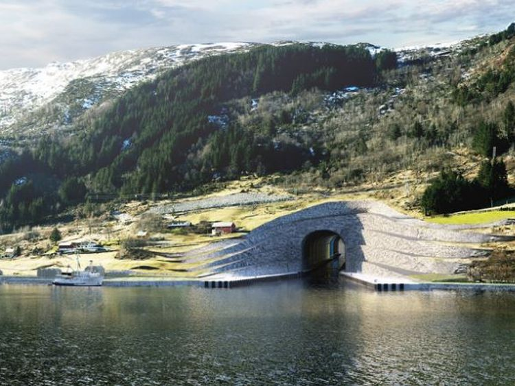 The Stad will be one mile long. What the entrance will look like. Photos by Kystverket/ Norwegian Coastal Administration