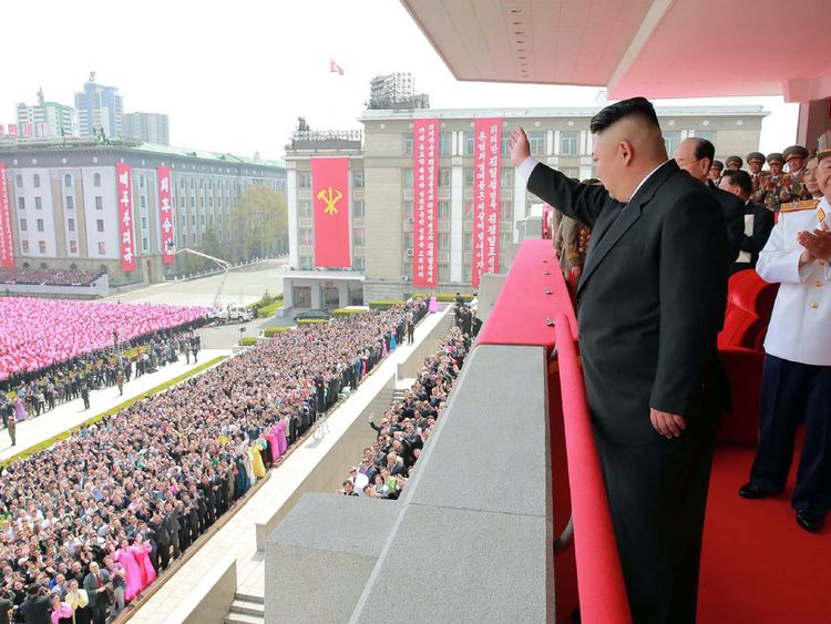 Last week, Mr Kim greeted thousands at a parade marking the 105th anniversary of the birth of late North Korean leader Kim Il-Sung