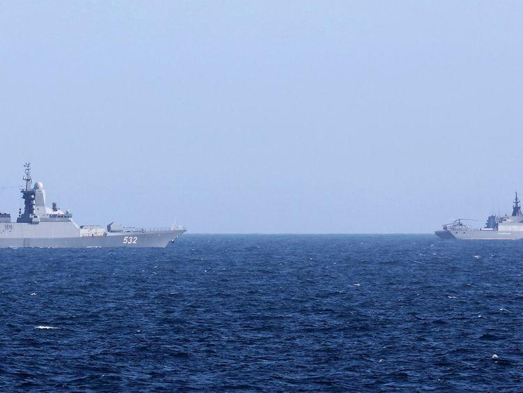 Steregushchiy-class corvettes Boiky (left) and Soobrazitelnyy