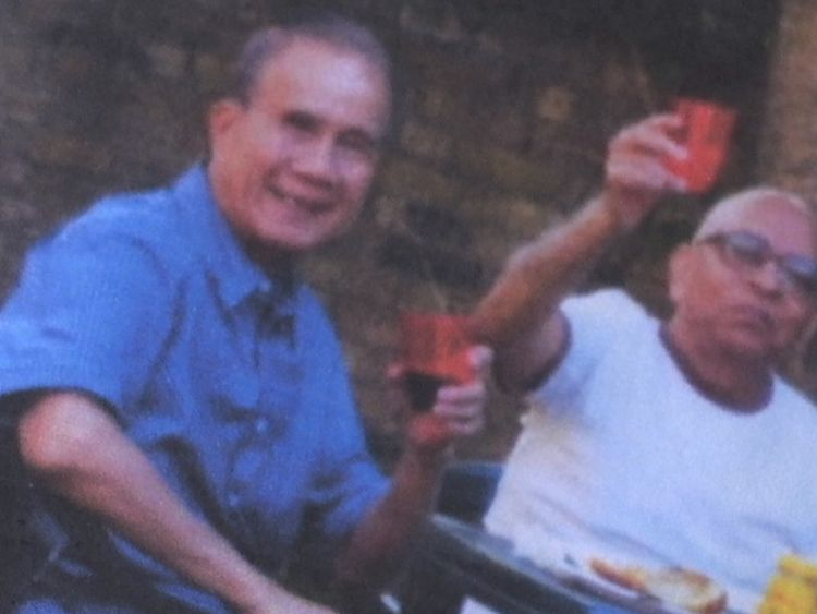 Choi Yip (L) jumped to his death from a burning flat after fire crews took 13 minutes to arrive