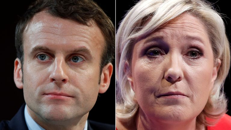 Emmanuel Macron and Marine Le Pen go head-to-head in round 2 on 7 May