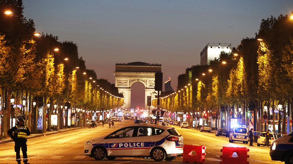 The attacker opened fire on a police car parked on the Champs-Elysees before he was also shot dead