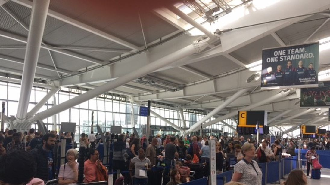 Thousands of passengers are stranded at Heathrow amid a global system outage