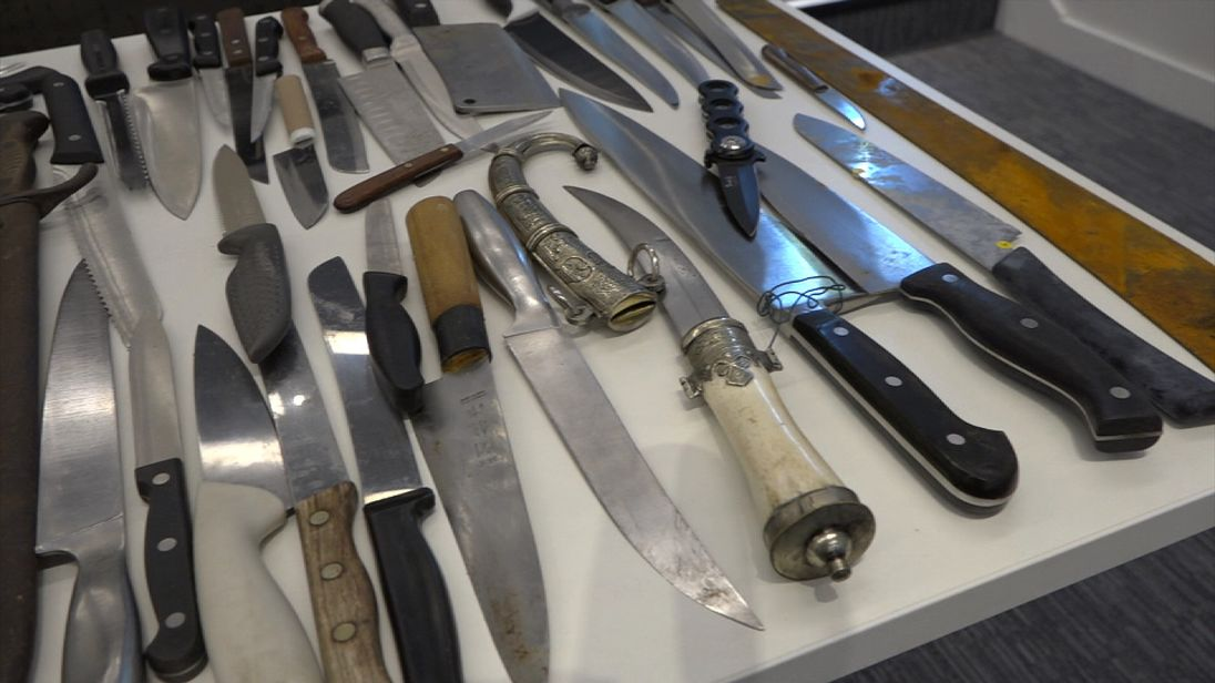 Scotland Yard has seized a record 300 knives in one week