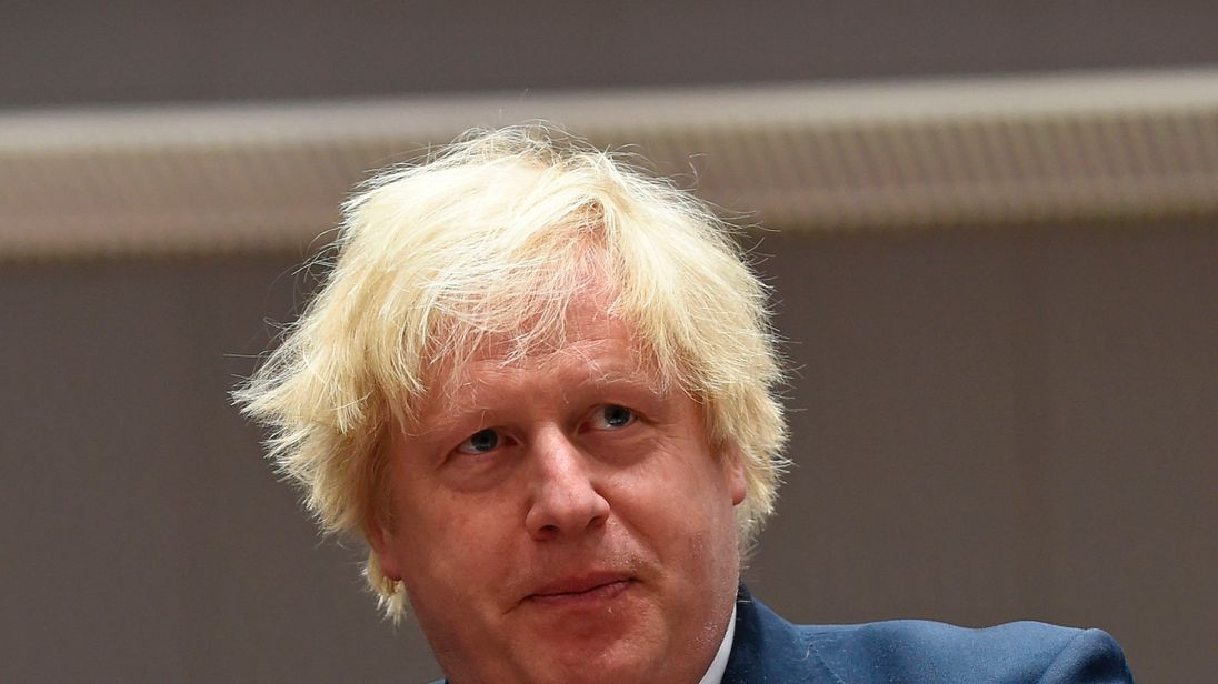 Boris Johnson attended an EU summit in Brussels