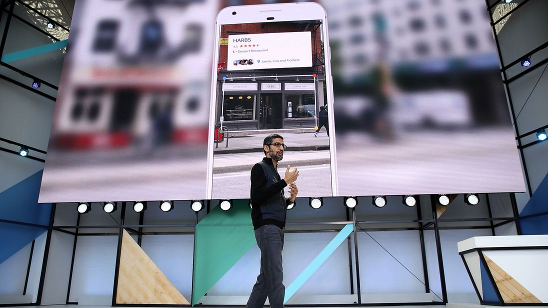 Google's CEO Sundar Pichai unveils the firm's new innovation Google Lens
