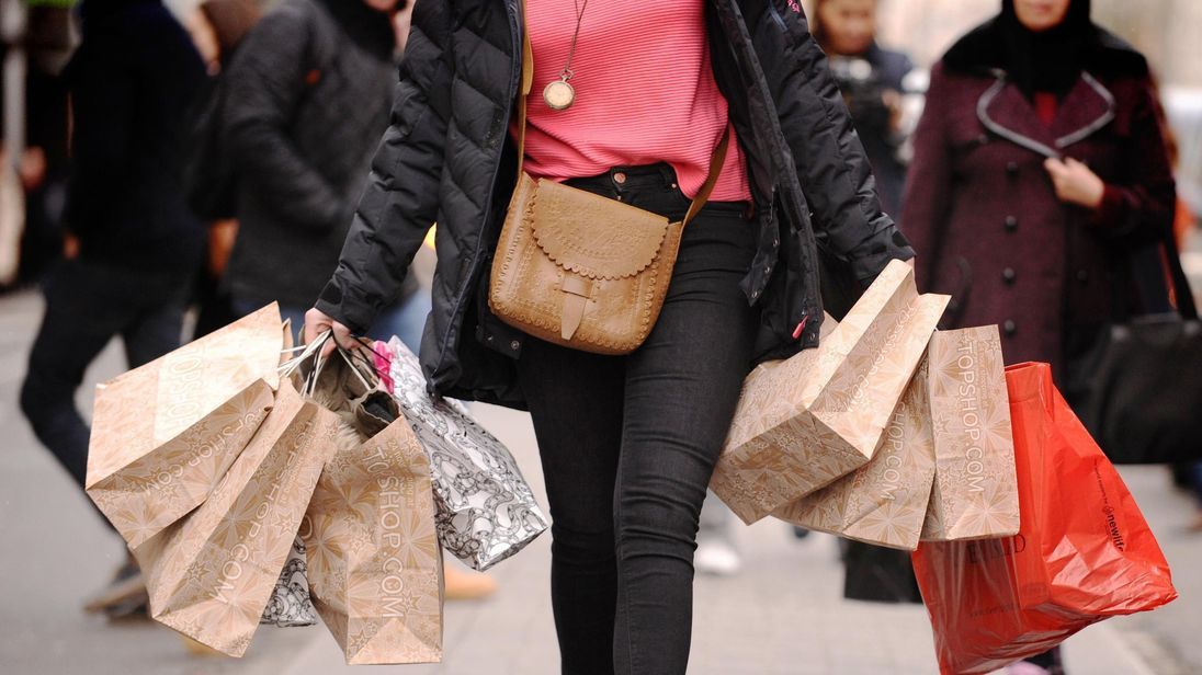 A shopper on a high street