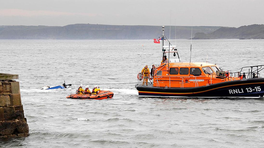 Search for missing crew of yacht that washed up in North Yorkshire