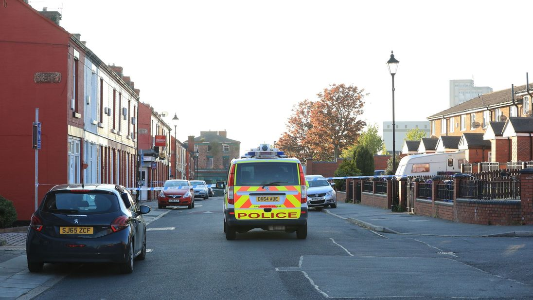 Scene of the dog attack in Toxteth